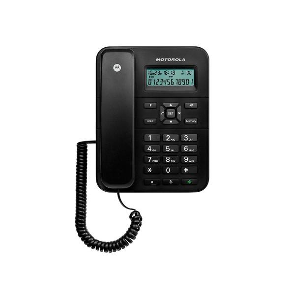 Motorola ct202 negro teléfono fijo con amplia pantalla