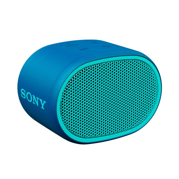 Sony srs-xb01 azul altavoz inalámbrico bluetooth aux micrófono extra bass y resistente al agua