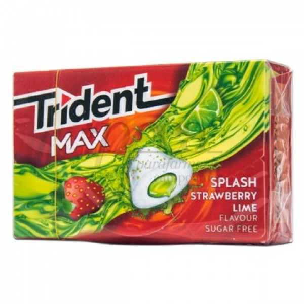 TRIDENT MAX FRESA LIMA 10 CHICLES