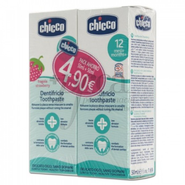 CHICCO DENTÍFRICO FRESA 2X 50ML PROMO