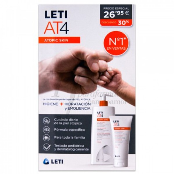 LETI ATOPIC PIEL AT4 GEL 750ML+CREMA 200ML PROMO