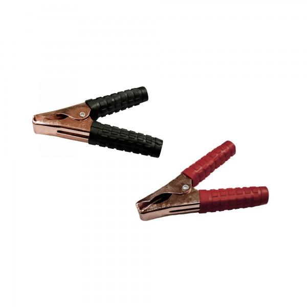 Pinza bateria 160mm.800 a.negra/roja 2u.