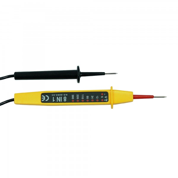 Tester voltaje lapiz 8 en 1  6v - 380v