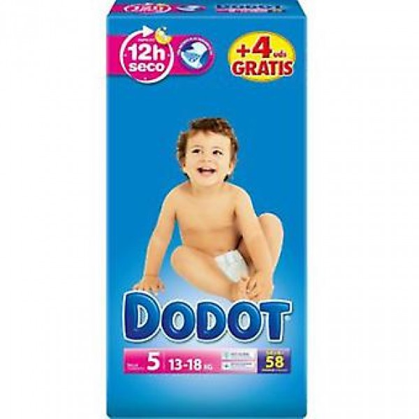 Dodot Pañales  3d t5 ( 11-16 kg ) 58 uds