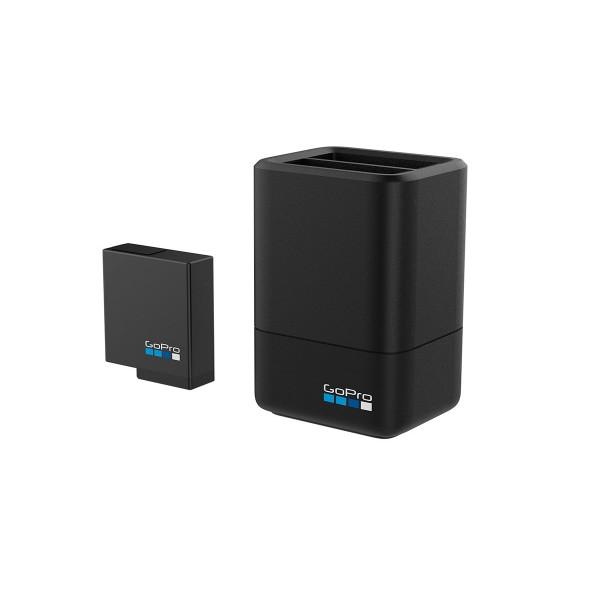 Go pro aadbd-001 cargador de batería dual + batería para cámara hero5 black