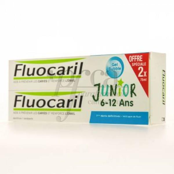 FLUOCARIL JR GEL BUBBLE 2X75ML PROMO