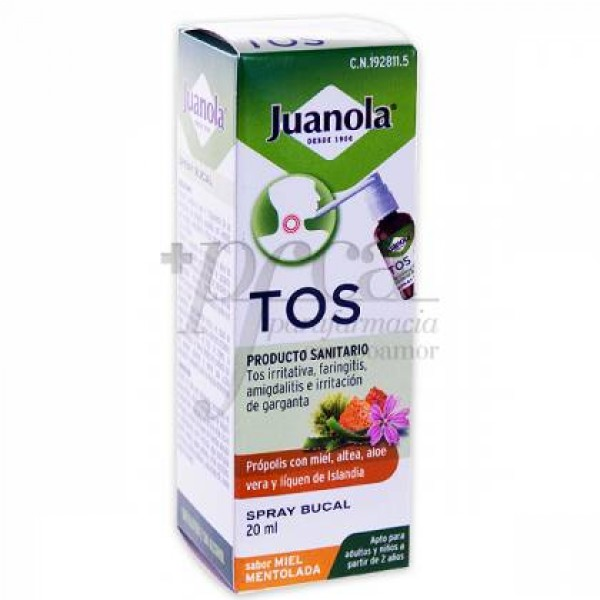 JUANOLA TOS SPRAY BUCAL S/MIEL MENTOLADA 20ML