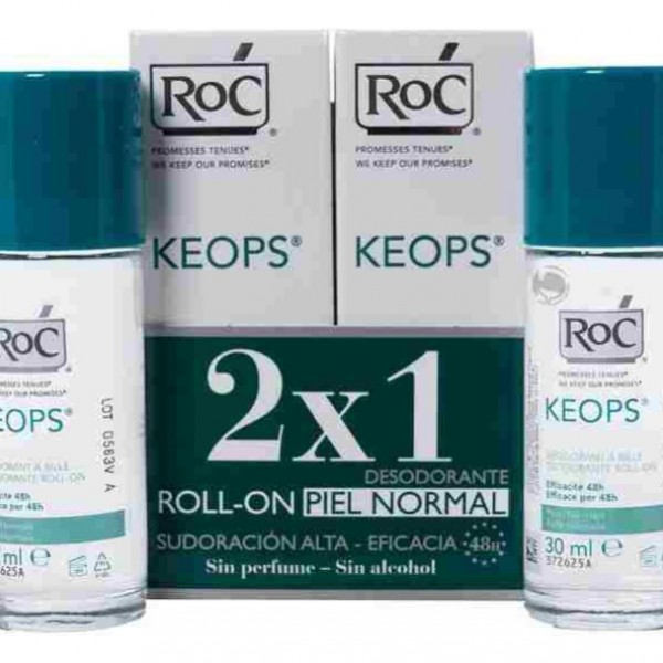 ROC KEOPS DESODORANTE ROLL-ON 2X30 ML PROMO