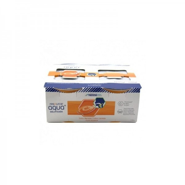 RESOURCE AGUA GEL NARANJA 4X125 ML