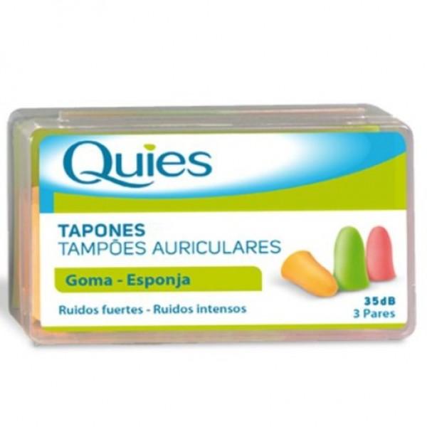 TAPONES OIDOS QUIES GOMA ESPUMA 6 UNIDADES