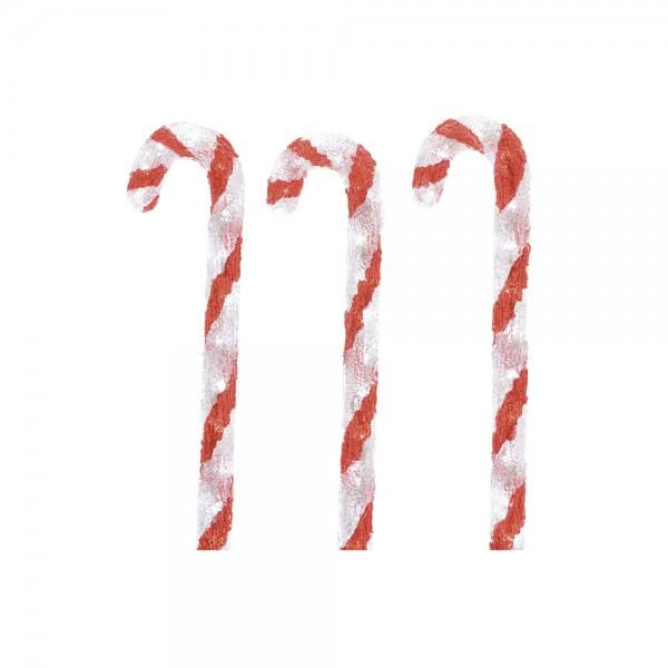 Set de 3 figura led caramelo 13x14x61cm